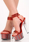 Туфли красные EROLANTA